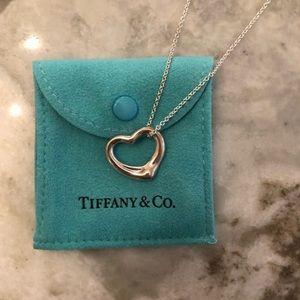 Tiffany & Co Open Heart Pendant, 22 inch